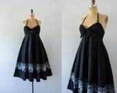 1970s Young Edwardian bohemian summer dress / 70s cotton beauty