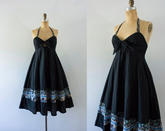 1970s Young Edwardian bohemian summer dress / 70s cotton beauty
