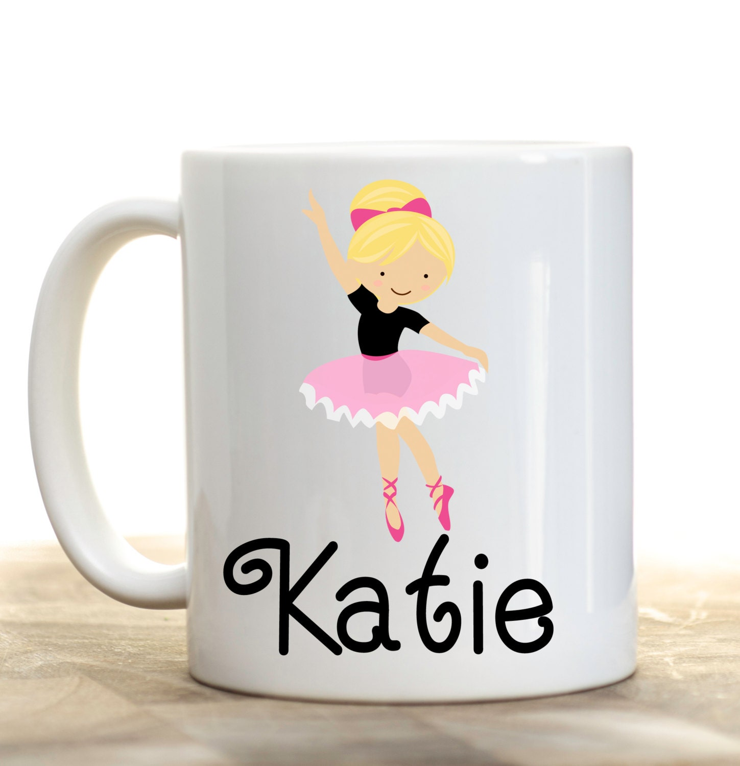 Dance Mug Ballet Dancer Personalized Cup Hot Chocolate
