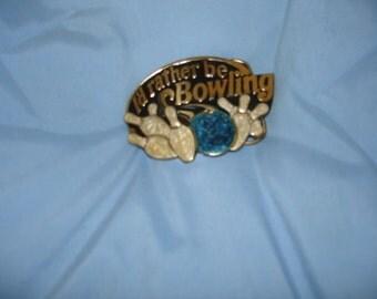 Vintage Bowling Belt Buckle