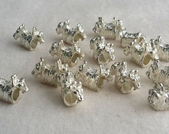 5 Scotty Dog Large  Hole  Beads fit European Jewelry - Only 1 available 1196