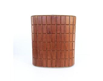 Mid Century Wood Waste Bin / Office Trash Can