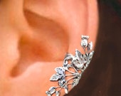 Scottish Thistle ear cuff Sterling Silver earrings Thistle jewelry Thistle earrings Sterling silver ear cuff Small clip non pierced C-108