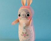RESERVED For Ruth - DO NOT purchase - Harriet Herbgarden - Art Doll - ooak handmade hand sewn soft sculpture - bunny woodland creature