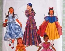 Little Girls Classic Princess Character Costumes: Dorothy, Snow White, Belle, Mulan, Cinderella Butterick Pattern BP424 UNCUT