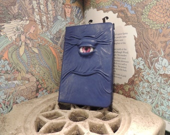 Mythical Beast Book (Blue leather with Magenta eye)
