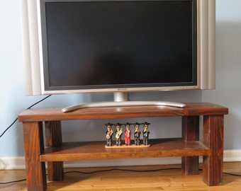 Butcher block dining table for Block tv stand