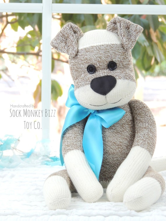 The Original Sock Puppy Dog, Sock Monkey Doll, Gifts for Children