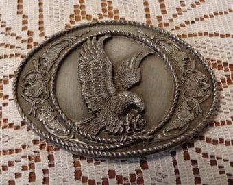 Vintage Eagle Belt Buckle  -  Siskyou Belt Buckle  -  16-196