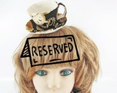 RESERVED for AlannadeLion-Teacup Fascinator-Gold Watch in Black
