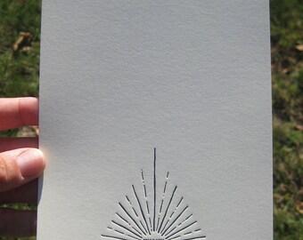 Stunning Letterpress Thank You Card
