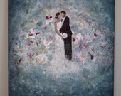 RESERVED Wedding painting for Maria