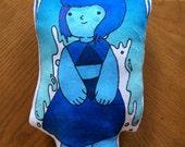 Lapiz Lazuli, Steven Universe Inspired pillow doll, crystal gems