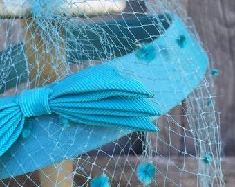 1950s Turquoise Fascinator