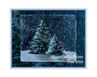 Silent Night Note Card