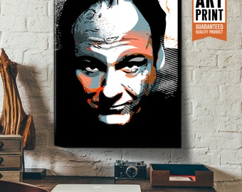 James Gandolfini Pop Art style Celebrity Portrait, Canvas Art Print, Fan Art, Illustration, Geekery Art, Movie Star, Pop Art, Dorm decor