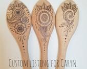 Custom Pyrography Listing for Caryn