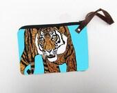 Tiger Wristlet Bag Handmade