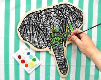 Elephant Paint Your Own Art Kit Watercolor