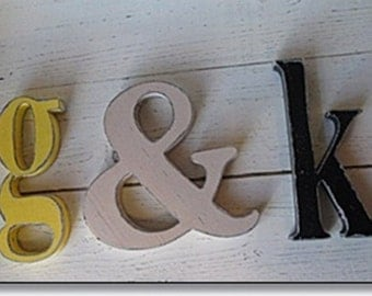 Decorative Wall Letters Nursery Decor, Distressed Wooden Lower Case Letters, 12 inch Wall Letters, Custom Colors, Hang on the wall