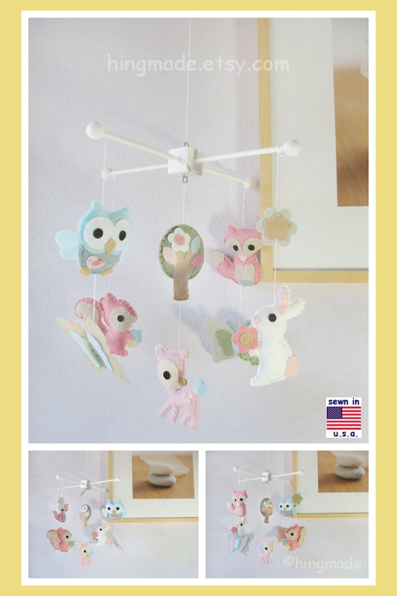 On Sale Baby Crib Mobile Woodland Critters Mobile By Hingmade