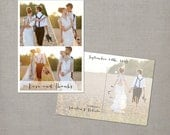 "Wedding Thank You Cards, Thank you postcards, collage cards, Vintage card - the ""Roberta 1"""