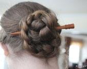 Wood Hair Stick - Hand Turned Cherry Shawl Pin