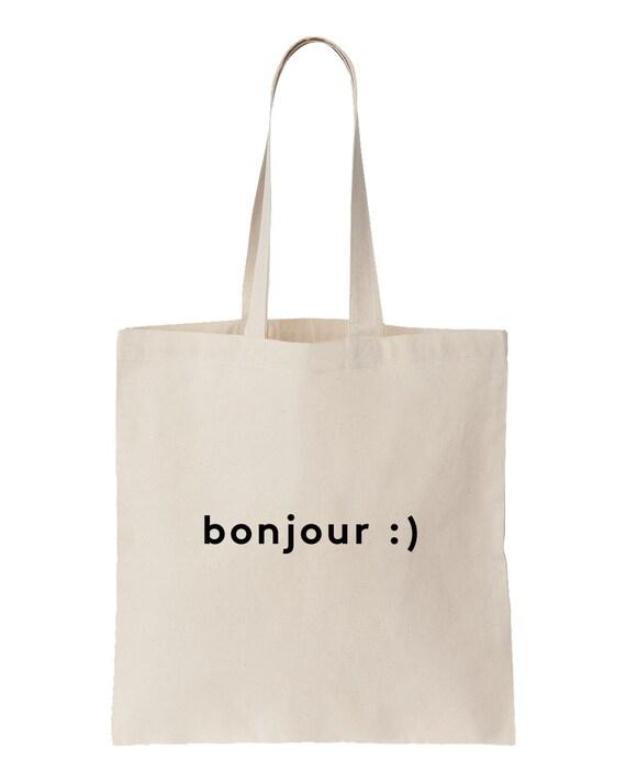Bonjour / Screen printed totebag