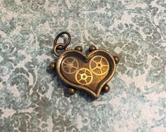 Steampunk My Mechanical Heart Pendant