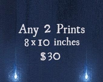 Pick Any 2 Prints / Print Deal, Sale / 8x10 Fine Art Matte Print