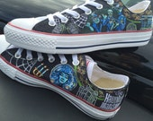 Haunted mansion hand painted toms