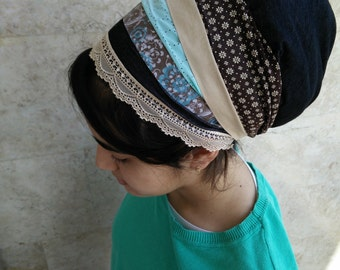 jewish head covering,Headcovering,mitpachat, chemo head scarf,apron Tichel, by oshratDesignz