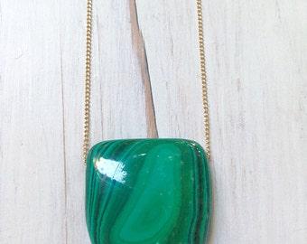 Malachite Necklace Malachite Jewelry Pendant Necklace Gemstone Jewelry