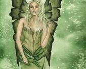 "SALE: Fairy Art Print / Fantasy Art / Sexy Girl / Herb Faeries / Fae / Corset / Flower Fairy / ""Meadowsweet"" Jacqueline Collen-Tarrolly"