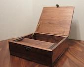 Handmade Cherry Wood Tobacco Stash Box Keepsake Box