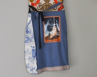 STAR WARS Wrap Skirt/ Upcycled Patchwork Skirt by Rebirth Recycling