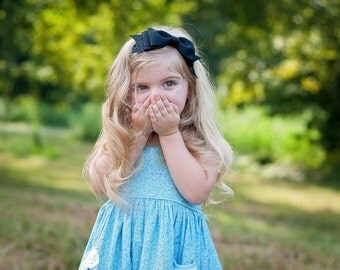 Alice in Wonderland Headband, Baby Headband, Alice Costume, Halloween Bow, Alice in Wonderland, Kinley Kate, Baby Costume, Black Bow, Bowtie