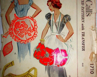 McCalls 1710 Women's 50s Tea Apron Sewing Pattern