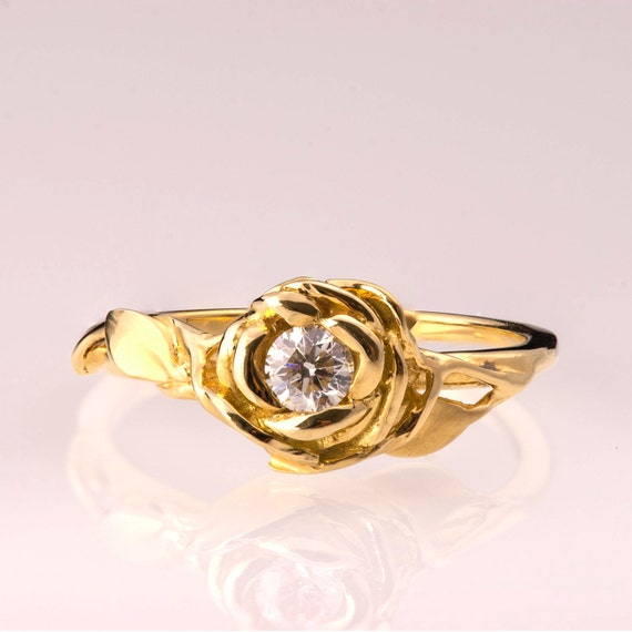 engagement ring no 4 14k gold and engagement