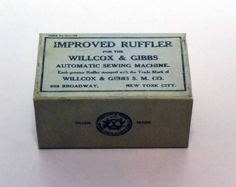 Wilcox & Gibbs Improved Ruffler for Automatic Sewing Machine in Original Box with Instructions    Free Shipping to USA