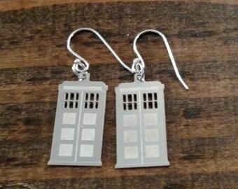 TARDIS Doctor Who Earrings