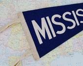 Vintage Mississippi Pennant