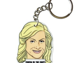 Yellow Haired Female keychain