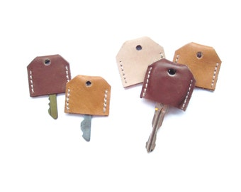 Leather Key Cap | Leather Goods | Housewarming Gift | Key Identifier | Key Topper | Housewarming Gift | Key Sleeve | Color Coded Key