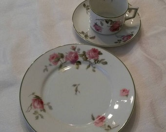 A (3pc) Luncheon Set by Heinrich & Co from Selb Bavaria  circa 1911-1934-   DR