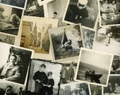 "50 pc - Mini Vintage Photos ""Variety Collection"" Snapshot Old Photo Antique Black & White Photography Paper Ephemera Collectibles - 052315"
