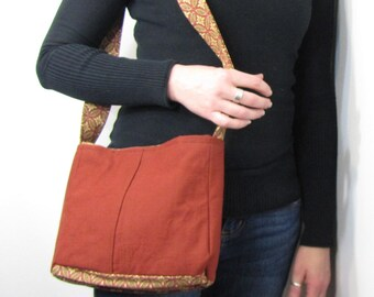 Blood Ox Red Purse with Pleats