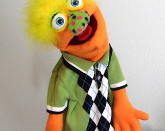 Enry monster hand puppet or ventriloquist figure professional