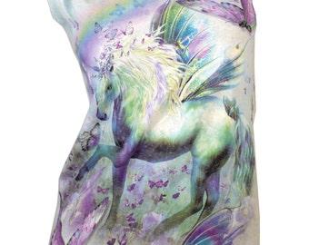 Mystical Horse UNICORN Reshaped T-Shirt / Dress sz. S / M