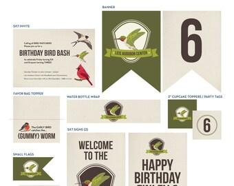 BIRD Printable Invite & Decor